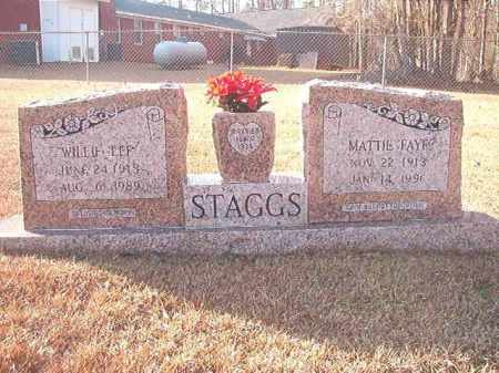 STAGGS, MATTIE FAYE - Columbia County, Arkansas | MATTIE FAYE STAGGS - Arkansas Gravestone Photos