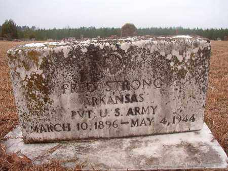 STRONG (VETERAN), FRED - Columbia County, Arkansas   FRED STRONG (VETERAN) - Arkansas Gravestone Photos