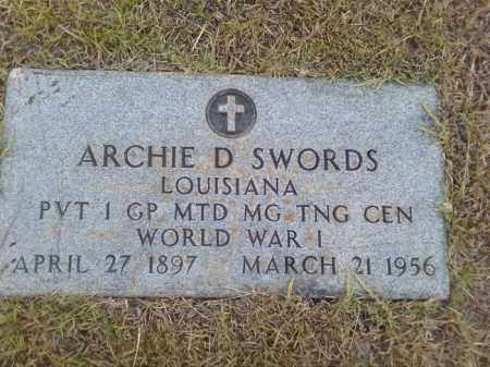 SWORDS (VETERAN WWI), ARCHIE D - Columbia County, Arkansas | ARCHIE D SWORDS (VETERAN WWI) - Arkansas Gravestone Photos