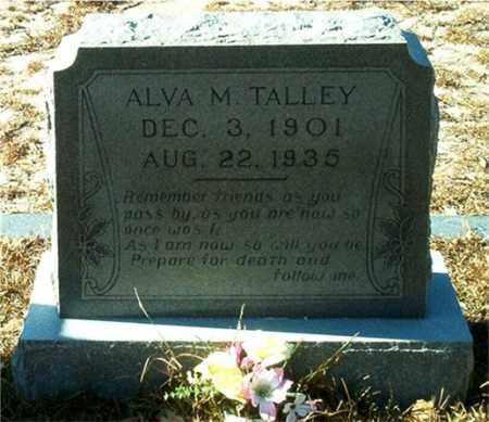 TALLEY, ALVA M. - Columbia County, Arkansas | ALVA M. TALLEY - Arkansas Gravestone Photos