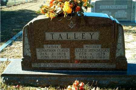 "TALLEY, SARAH ELIZABETH ""LIZZIE"" - Columbia County, Arkansas 