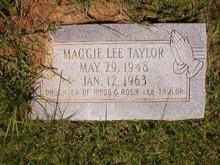 TAYLOR, MAGGIE LEE - Columbia County, Arkansas   MAGGIE LEE TAYLOR - Arkansas Gravestone Photos