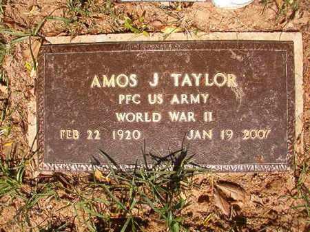 TAYLOR (VETERAN WWII), AMOS J - Columbia County, Arkansas   AMOS J TAYLOR (VETERAN WWII) - Arkansas Gravestone Photos