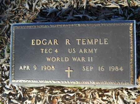 TEMPLE (VETERAN WWII), EDGAR R - Columbia County, Arkansas   EDGAR R TEMPLE (VETERAN WWII) - Arkansas Gravestone Photos