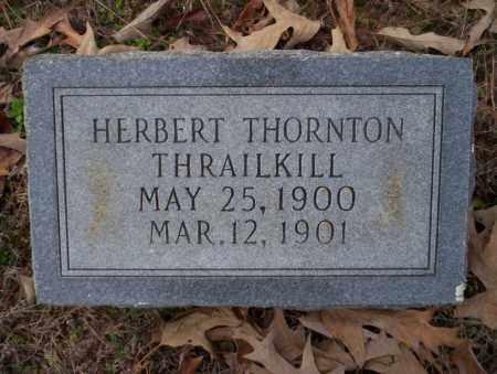THRAILKILL, HERBERT THORNTON - Columbia County, Arkansas   HERBERT THORNTON THRAILKILL - Arkansas Gravestone Photos