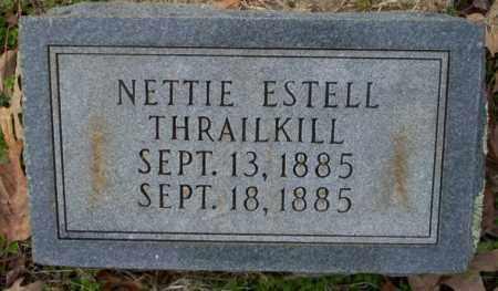 THRAILKILL, NETTIE ESTELL - Columbia County, Arkansas | NETTIE ESTELL THRAILKILL - Arkansas Gravestone Photos