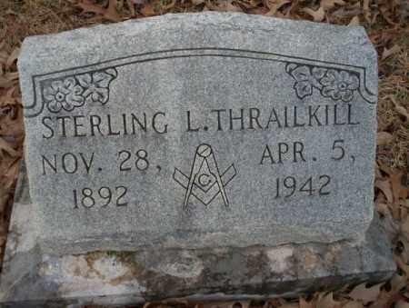 THRAILKILL, STERLING L - Columbia County, Arkansas | STERLING L THRAILKILL - Arkansas Gravestone Photos