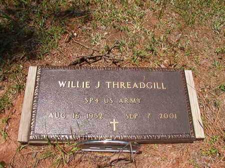 THREADGILL (VETERAN), WILLIE J - Columbia County, Arkansas | WILLIE J THREADGILL (VETERAN) - Arkansas Gravestone Photos