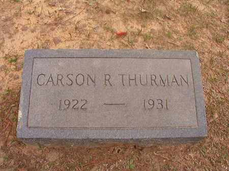 THURMAN, CARSON R - Columbia County, Arkansas | CARSON R THURMAN - Arkansas Gravestone Photos