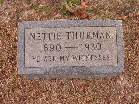 THURMAN, NETTIE - Columbia County, Arkansas | NETTIE THURMAN - Arkansas Gravestone Photos