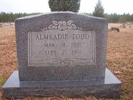 TODD, ALMEADIE - Columbia County, Arkansas | ALMEADIE TODD - Arkansas Gravestone Photos