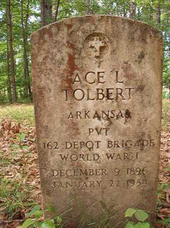 TOLBERT (VETERAN WWI), ACE L - Columbia County, Arkansas | ACE L TOLBERT (VETERAN WWI) - Arkansas Gravestone Photos