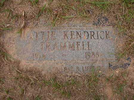 TRAMMELL, MATTIE - Columbia County, Arkansas | MATTIE TRAMMELL - Arkansas Gravestone Photos