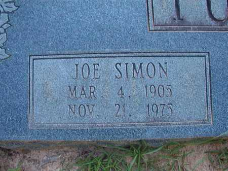 TUCKER, JOE SIMON (CLOSEUP) - Columbia County, Arkansas | JOE SIMON (CLOSEUP) TUCKER - Arkansas Gravestone Photos