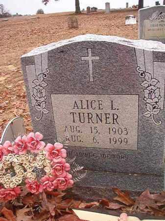 TURNER, ALICE L - Columbia County, Arkansas   ALICE L TURNER - Arkansas Gravestone Photos