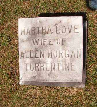 TURRENTINE, MARTHA LOVE - Columbia County, Arkansas   MARTHA LOVE TURRENTINE - Arkansas Gravestone Photos