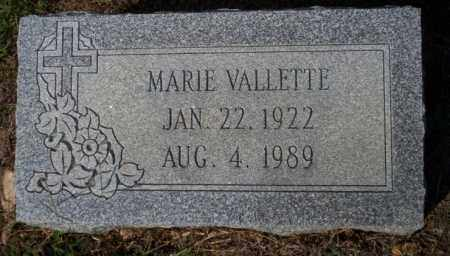 VALLETTE, MARIE - Columbia County, Arkansas | MARIE VALLETTE - Arkansas Gravestone Photos