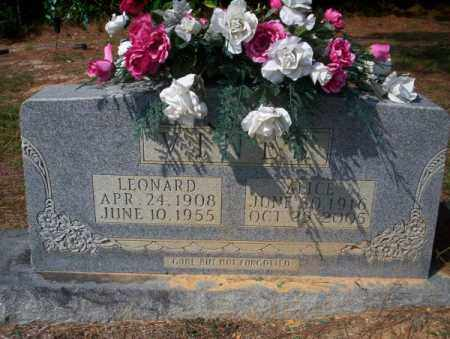 VINE, LEONARD - Columbia County, Arkansas   LEONARD VINE - Arkansas Gravestone Photos