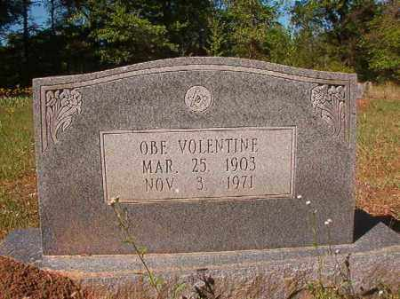 VOLENTINE, OBE - Columbia County, Arkansas | OBE VOLENTINE - Arkansas Gravestone Photos