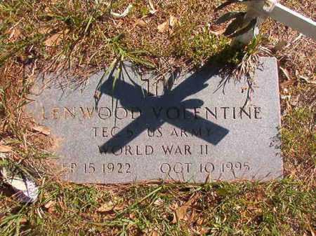 VOLENTINE (VETERAN WWII), LENWOOD - Columbia County, Arkansas   LENWOOD VOLENTINE (VETERAN WWII) - Arkansas Gravestone Photos