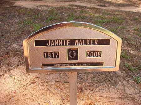 WALKER, JANNIE - Columbia County, Arkansas | JANNIE WALKER - Arkansas Gravestone Photos