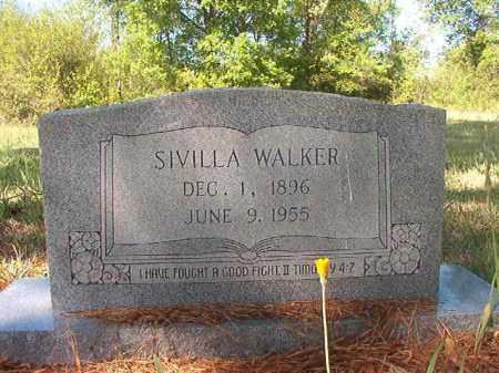 WALKER, SIVILLA - Columbia County, Arkansas | SIVILLA WALKER - Arkansas Gravestone Photos