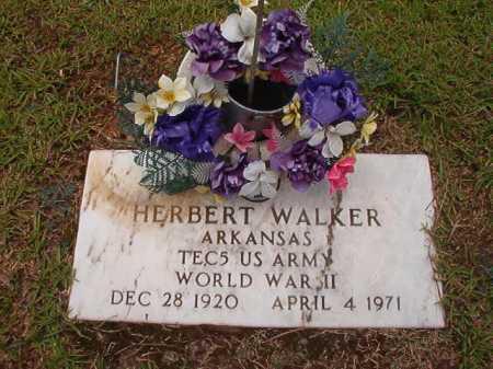 WALKER (VETERAN WWII), HERBERT - Columbia County, Arkansas | HERBERT WALKER (VETERAN WWII) - Arkansas Gravestone Photos