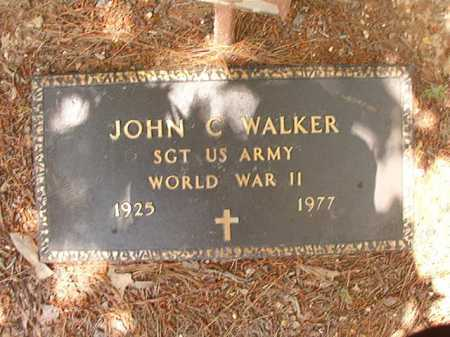 WALKER (VETERAN WWII), JOHN C - Columbia County, Arkansas | JOHN C WALKER (VETERAN WWII) - Arkansas Gravestone Photos