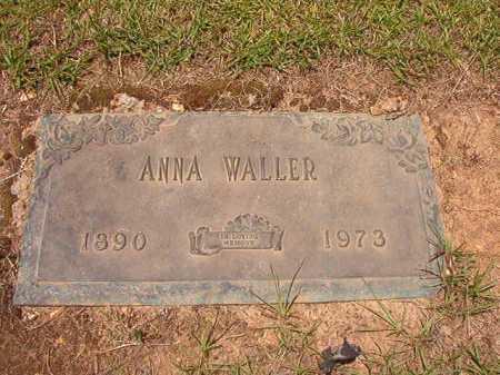 WALLER, ANNA - Columbia County, Arkansas | ANNA WALLER - Arkansas Gravestone Photos