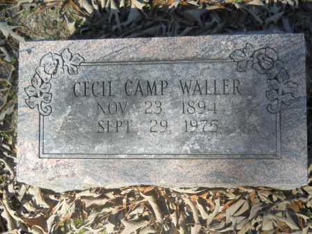 WALLER, CECIL CAMP - Columbia County, Arkansas   CECIL CAMP WALLER - Arkansas Gravestone Photos