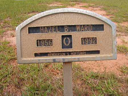 WARD, HAZEL B - Columbia County, Arkansas | HAZEL B WARD - Arkansas Gravestone Photos