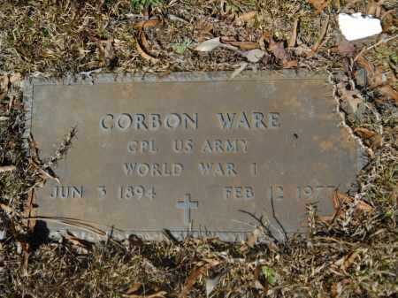 WARE (VETERAN WWI), CORBON - Columbia County, Arkansas | CORBON WARE (VETERAN WWI) - Arkansas Gravestone Photos