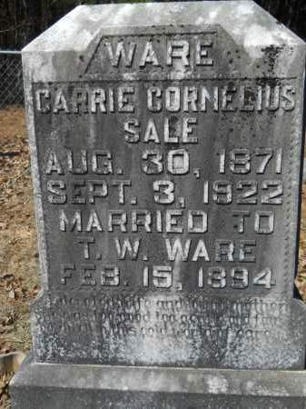 SALE WARE, CARRIE CORNELIUS - Columbia County, Arkansas | CARRIE CORNELIUS SALE WARE - Arkansas Gravestone Photos