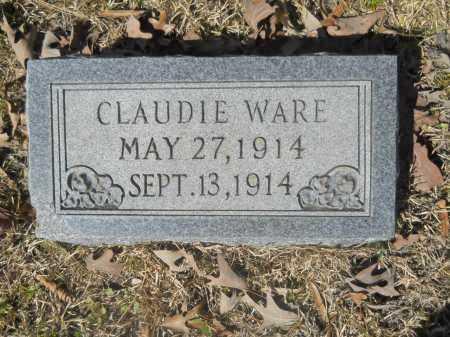 WARE, CLAUDIE - Columbia County, Arkansas   CLAUDIE WARE - Arkansas Gravestone Photos