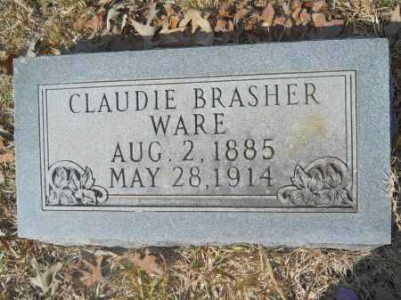 BRASHER WARE, CLAUDIE - Columbia County, Arkansas | CLAUDIE BRASHER WARE - Arkansas Gravestone Photos