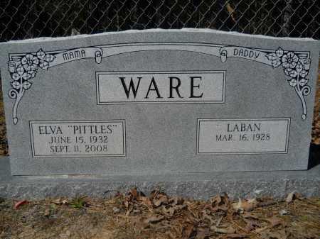 "WARE, ELVA ""PITTLES"" - Columbia County, Arkansas | ELVA ""PITTLES"" WARE - Arkansas Gravestone Photos"