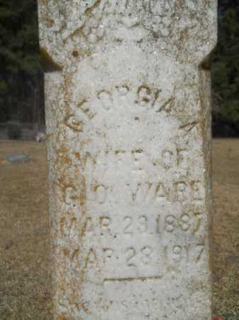 WARE (CLOSEUP), GEORGIA A - Columbia County, Arkansas   GEORGIA A WARE (CLOSEUP) - Arkansas Gravestone Photos
