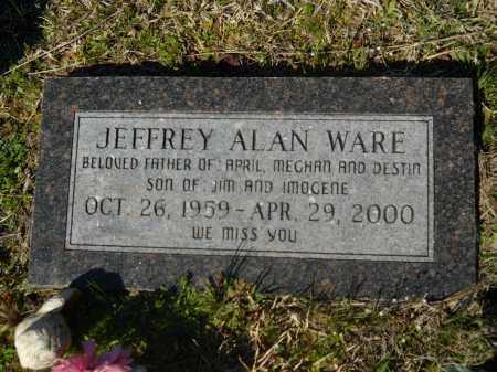 WARE, JEFFREY ALAN - Columbia County, Arkansas | JEFFREY ALAN WARE - Arkansas Gravestone Photos