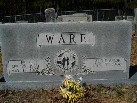 PRIDE WARE, AUDIE - Columbia County, Arkansas | AUDIE PRIDE WARE - Arkansas Gravestone Photos