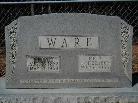 WARE, NETA - Columbia County, Arkansas   NETA WARE - Arkansas Gravestone Photos