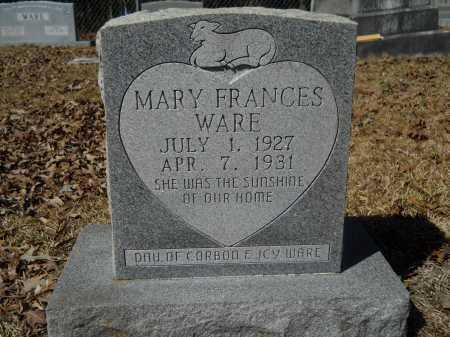 WARE, MARY FRANCES - Columbia County, Arkansas | MARY FRANCES WARE - Arkansas Gravestone Photos