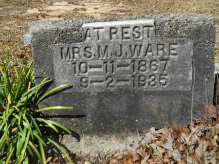 WARE, M J - Columbia County, Arkansas   M J WARE - Arkansas Gravestone Photos