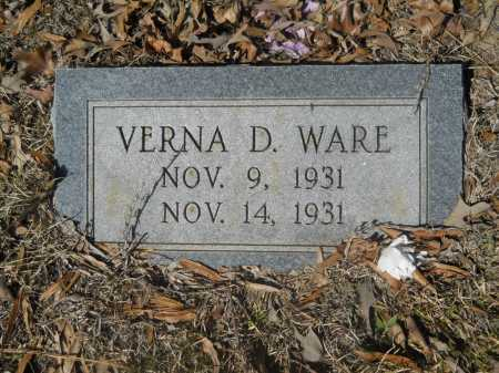 WARE, VERNA D - Columbia County, Arkansas | VERNA D WARE - Arkansas Gravestone Photos