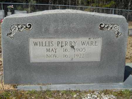 WARE, WILLIS PERRY - Columbia County, Arkansas | WILLIS PERRY WARE - Arkansas Gravestone Photos