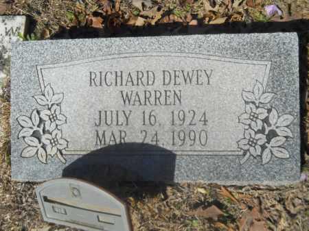 WARREN, RICHARD DEWEY - Columbia County, Arkansas | RICHARD DEWEY WARREN - Arkansas Gravestone Photos