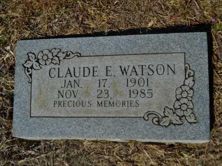WATSON, CLAUDE E - Columbia County, Arkansas | CLAUDE E WATSON - Arkansas Gravestone Photos