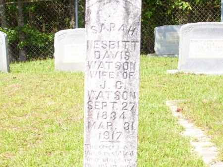 DAVIS WATSON, SARAH NESBITT - Columbia County, Arkansas | SARAH NESBITT DAVIS WATSON - Arkansas Gravestone Photos