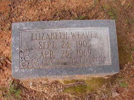 WEAVER, ELIZABETH - Columbia County, Arkansas | ELIZABETH WEAVER - Arkansas Gravestone Photos