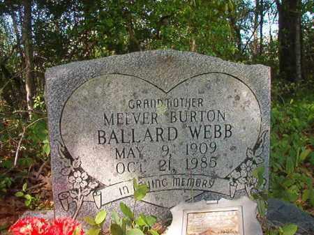 WEBB, MELVER BURTON - Columbia County, Arkansas | MELVER BURTON WEBB - Arkansas Gravestone Photos