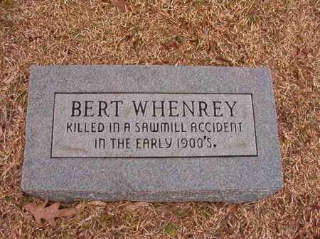 WHENREY, BERT - Columbia County, Arkansas | BERT WHENREY - Arkansas Gravestone Photos